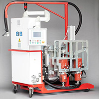 RTM units for polyester resins