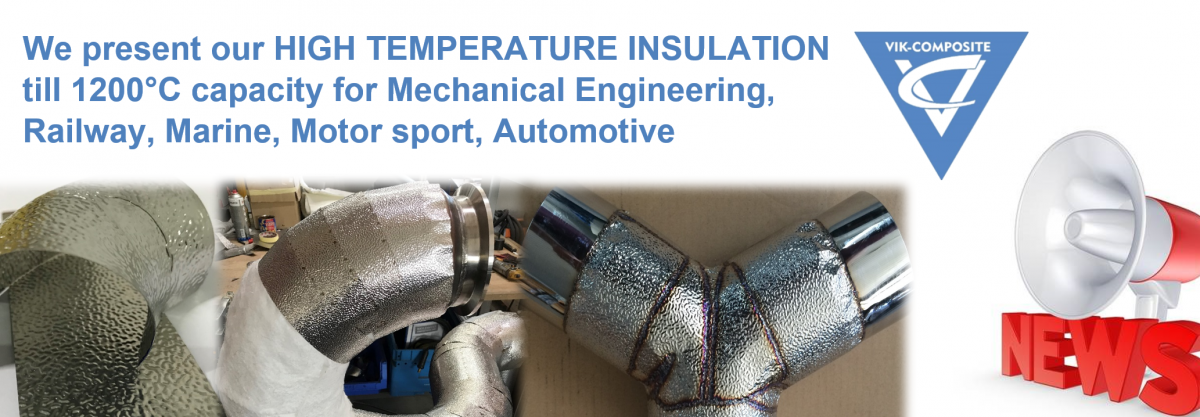High temperature insulation, integral insulation or heat protection for manifolds, turbo, downpipe, wastegates, silencers. Perfect for tuning and motorsports